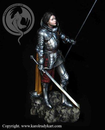 Miniatures.karol rudyk art.Joan of Arc 75mm.stonebeard miniatures.painted.australia