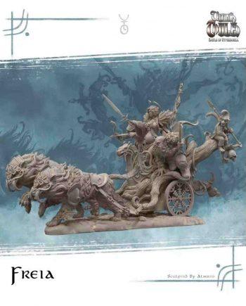 Stonebeard Miniatures Aradia Miniatures Freya Freia Chariot Ultima Thule unpainted miniature)