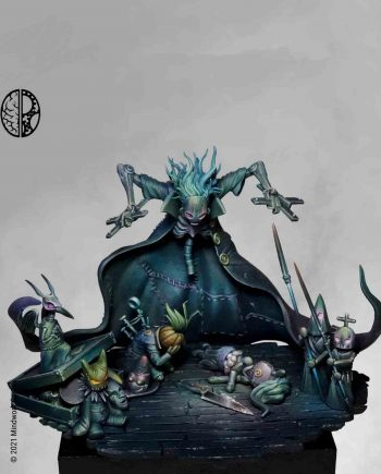 Miniature Mindwork Games The Puppeteer painted front stonebeard miniatures