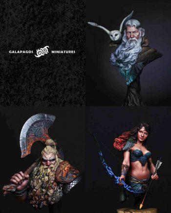 Galapagos Miniatures Classics Pack Painted