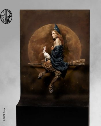 Miniature 75mm Mindwork Games Hare of the Moon painted front stonebeard miniatures