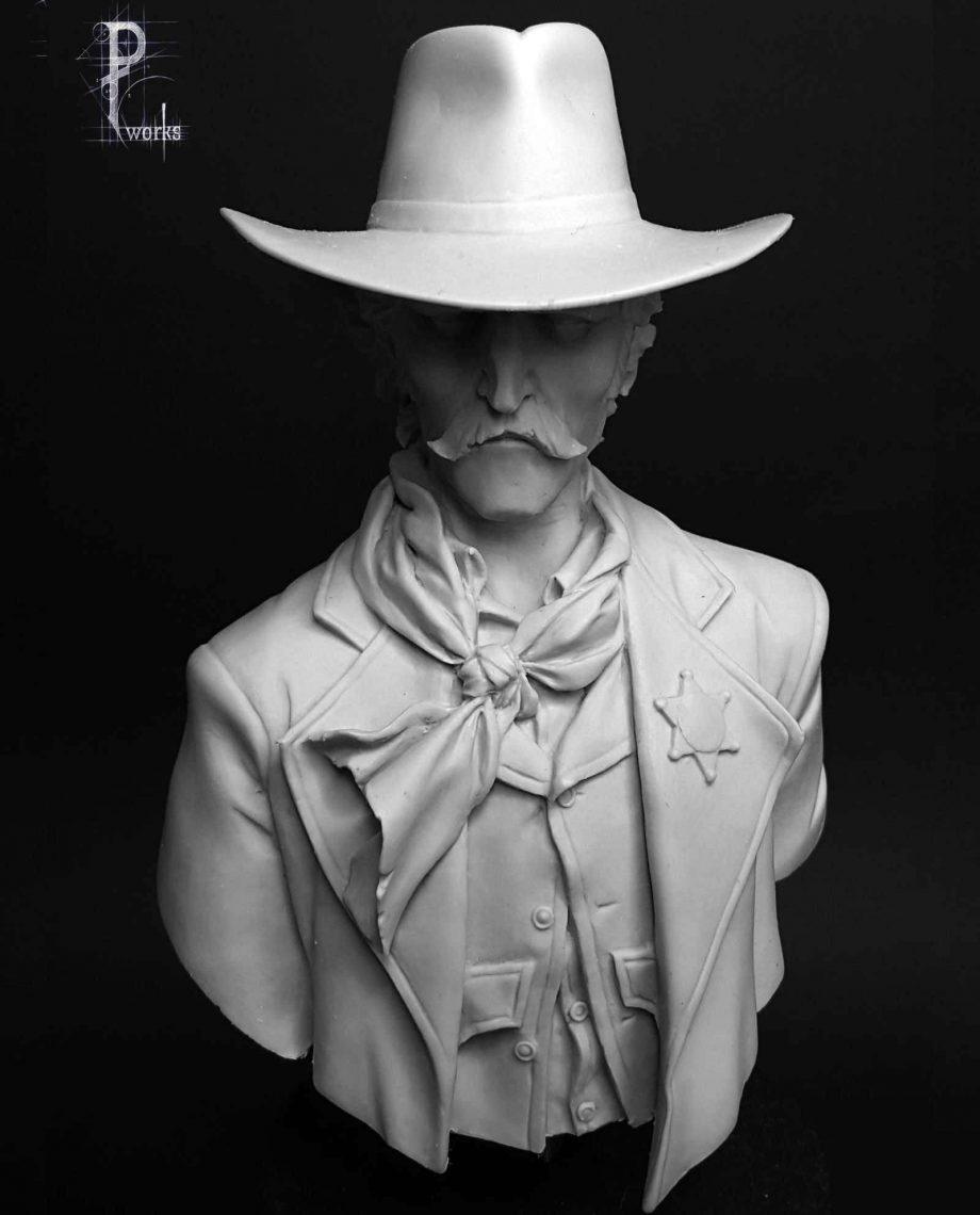 Miniature-Pedro Fernandez Works-Colt Wilson-front-unpainted
